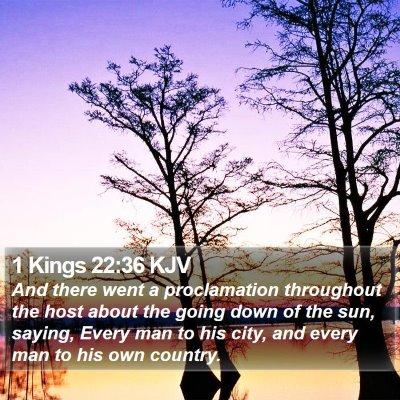 1 Kings 22:36 KJV Bible Verse Image