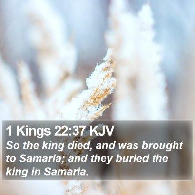 1 Kings 22:37 KJV Bible Verse Image