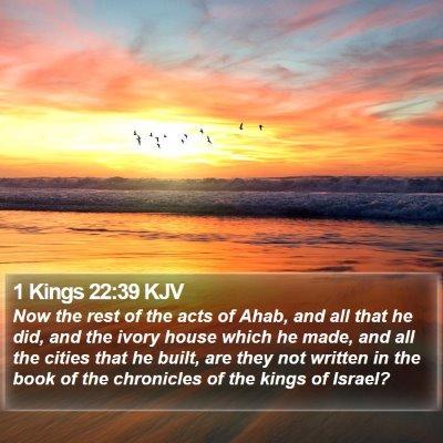 1 Kings 22:39 KJV Bible Verse Image