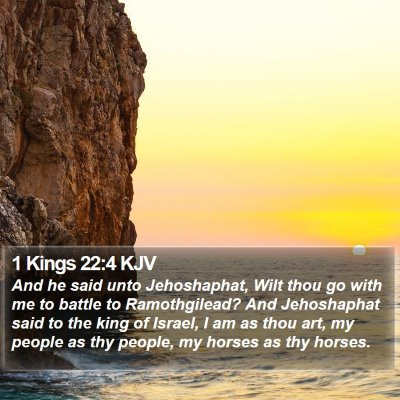 1 Kings 22:4 KJV Bible Verse Image