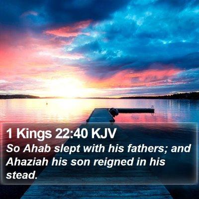 1 Kings 22:40 KJV Bible Verse Image