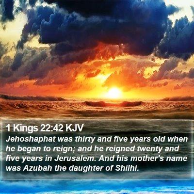 1 Kings 22:42 KJV Bible Verse Image