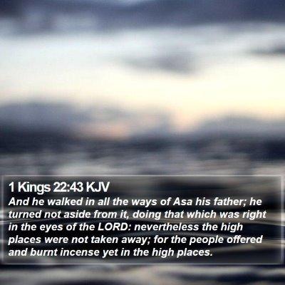 1 Kings 22:43 KJV Bible Verse Image