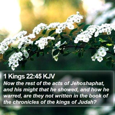 1 Kings 22:45 KJV Bible Verse Image