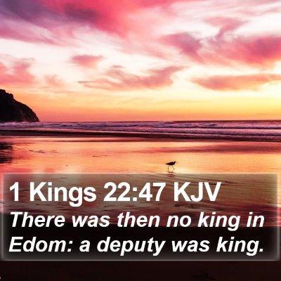 1 Kings 22:47 KJV Bible Verse Image