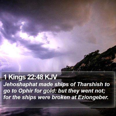 1 Kings 22:48 KJV Bible Verse Image
