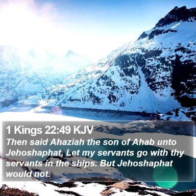 1 Kings 22:49 KJV Bible Verse Image