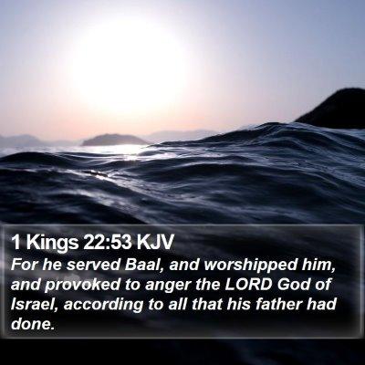 1 Kings 22:53 KJV Bible Verse Image