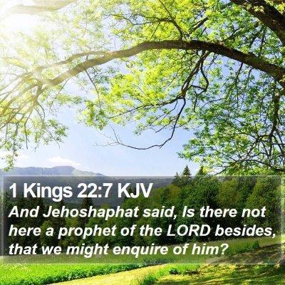 1 Kings 22:7 KJV Bible Verse Image