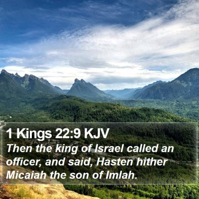 1 Kings 22:9 KJV Bible Verse Image