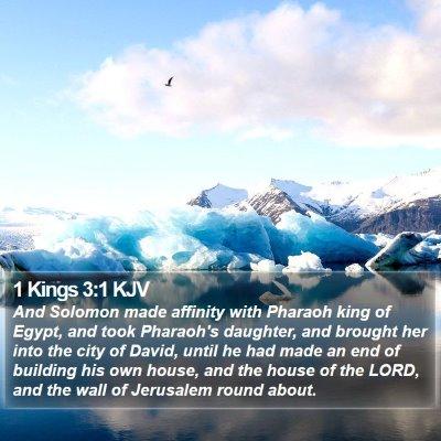 1 Kings 3:1 KJV Bible Verse Image