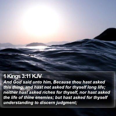 1 Kings 3:11 KJV Bible Verse Image