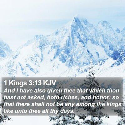 1 Kings 3:13 KJV Bible Verse Image