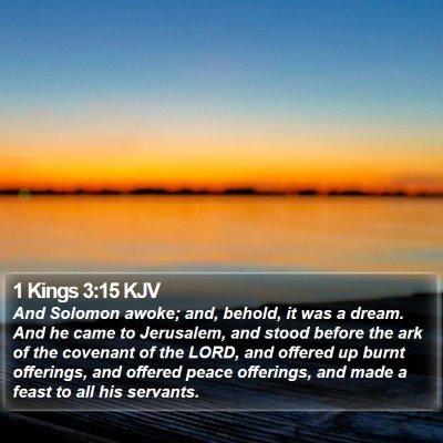 1 Kings 3:15 KJV Bible Verse Image