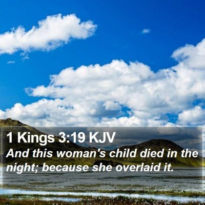 1 Kings 3:19 KJV Bible Verse Image