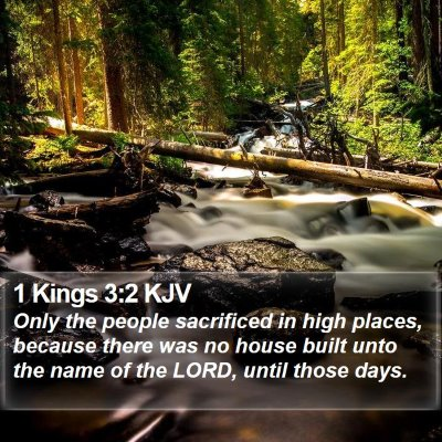 1 Kings 3:2 KJV Bible Verse Image