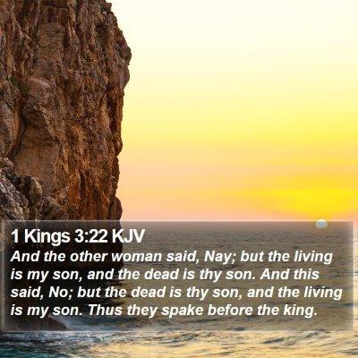 1 Kings 3:22 KJV Bible Verse Image