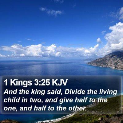 1 Kings 3:25 KJV Bible Verse Image