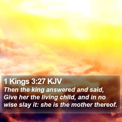 1 Kings 3:27 KJV Bible Verse Image