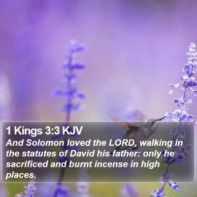 1 Kings 3:3 KJV Bible Verse Image