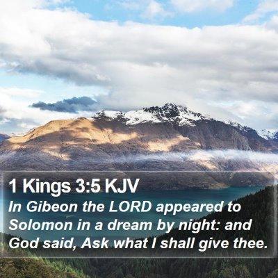 1 Kings 3:5 KJV Bible Verse Image