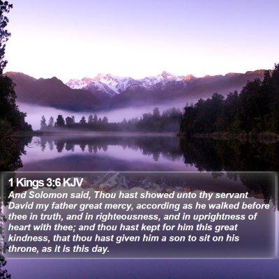 1 Kings 3:6 KJV Bible Verse Image