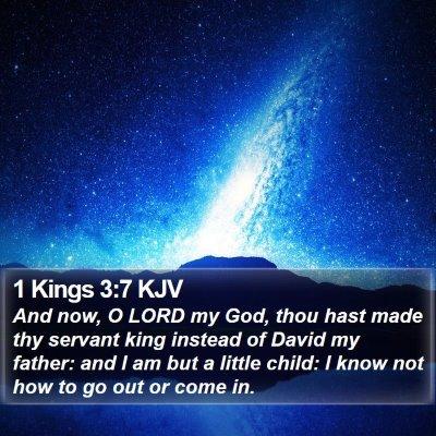 1 Kings 3:7 KJV Bible Verse Image