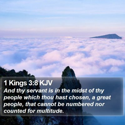 1 Kings 3:8 KJV Bible Verse Image