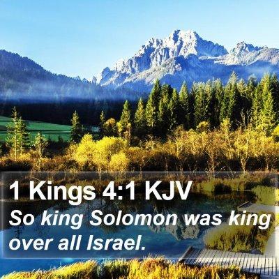 1 Kings 4:1 KJV Bible Verse Image