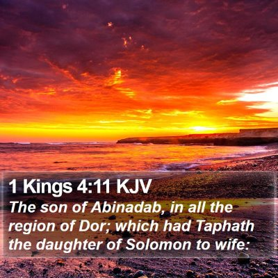 1 Kings 4:11 KJV Bible Verse Image