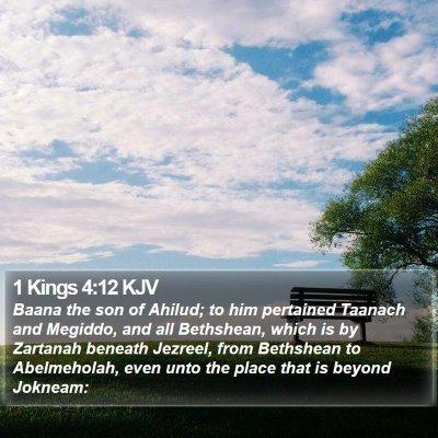 1 Kings 4:12 KJV Bible Verse Image