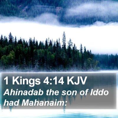 1 Kings 4:14 KJV Bible Verse Image