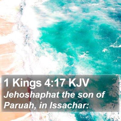 1 Kings 4:17 KJV Bible Verse Image