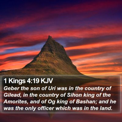 1 Kings 4:19 KJV Bible Verse Image