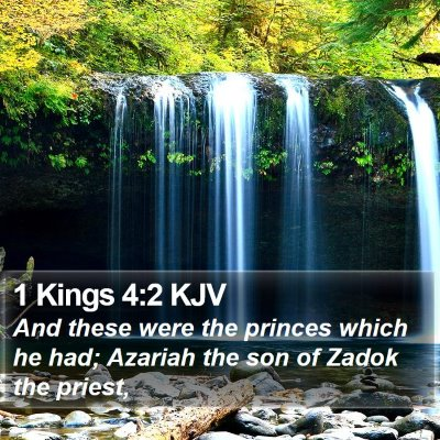 1 Kings 4:2 KJV Bible Verse Image