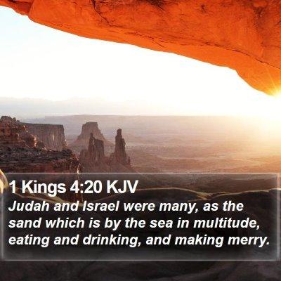 1 Kings 4:20 KJV Bible Verse Image