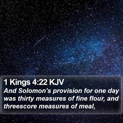 1 Kings 4:22 KJV Bible Verse Image