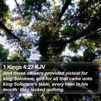 1 Kings 4:27 KJV Bible Verse Image