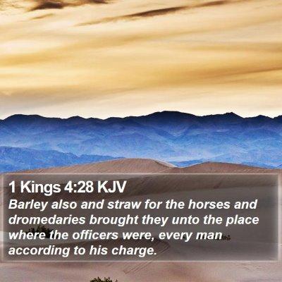 1 Kings 4:28 KJV Bible Verse Image