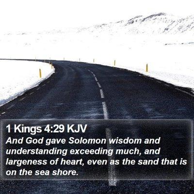 1 Kings 4:29 KJV Bible Verse Image