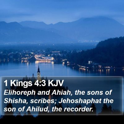 1 Kings 4:3 KJV Bible Verse Image