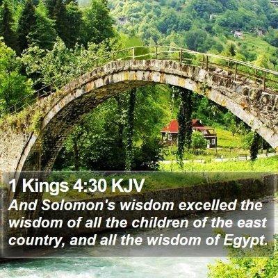 1 Kings 4:30 KJV Bible Verse Image
