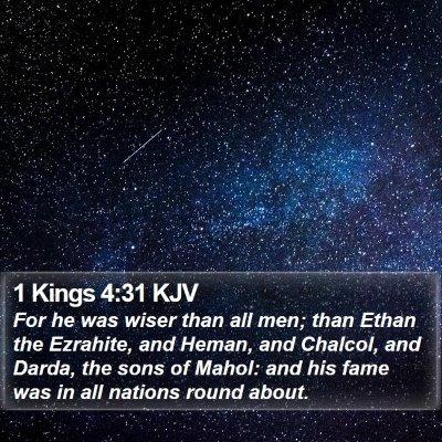 1 Kings 4:31 KJV Bible Verse Image