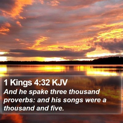 1 Kings 4:32 KJV Bible Verse Image