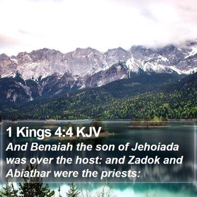 1 Kings 4:4 KJV Bible Verse Image