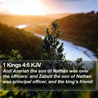 1 Kings 4:5 KJV Bible Verse Image
