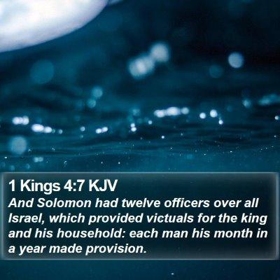 1 Kings 4:7 KJV Bible Verse Image