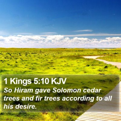 1 Kings 5:10 KJV Bible Verse Image
