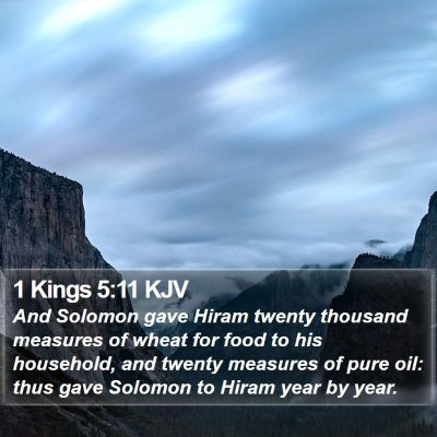 1 Kings 5:11 KJV Bible Verse Image