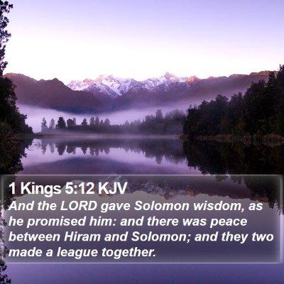 1 Kings 5:12 KJV Bible Verse Image